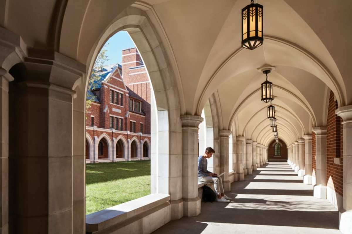 The portal has seating for studying. (Hall + Merrick Photographers)
