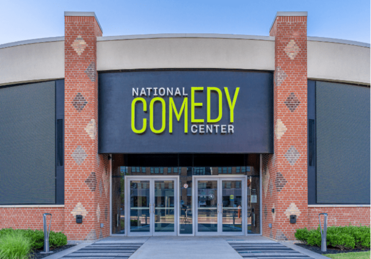 Main entrance to the National Comedy Center museum in Jamestown, New York.Chautauqua 360 Photography