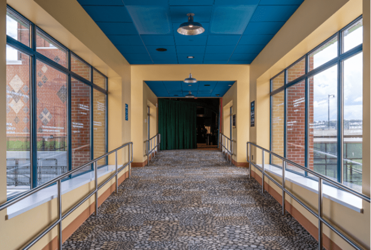The connector wing which joins the new construction with the historic train station features Hope's Landmark175™ Series steel windows with Thermal Evolution™ technology.Chautauqua 360 Photography