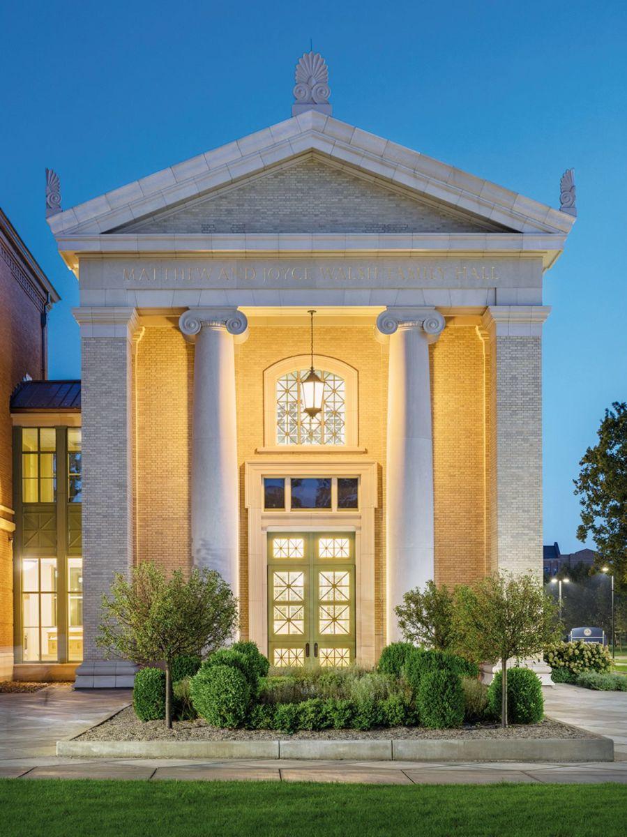 University of Notre Dame Matthew and Joyce Walsh Family Hall of Architecture, Stantec Architecture, Inc. (Executive Architect), John Simpson Architects (Design Architect)
